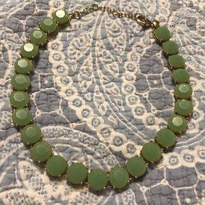 J. Crew mint green translucent statement necklace